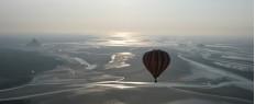 Vol en montgolfière sur la baie du Mont Saint Michel