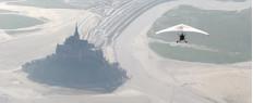 Vol Ulm au-dessus du Mont St Michel