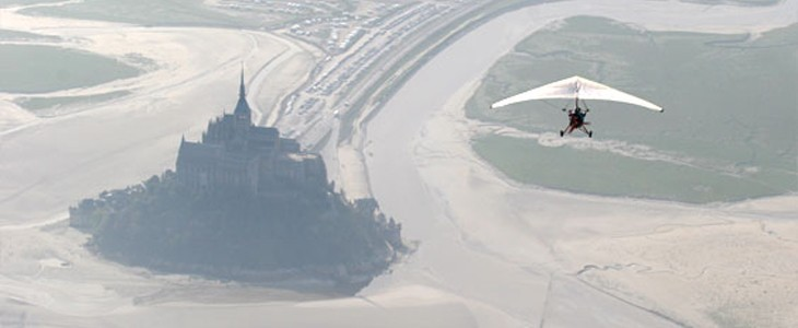 Vol Ulm au-dessus du Mont St Michel et des Iles Chausey
