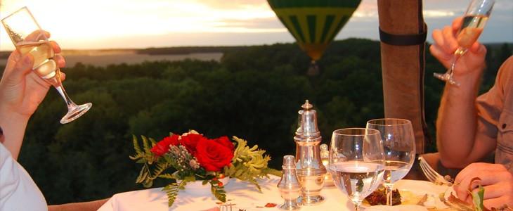 Dîner romantique en montgolfière Région Parisienne