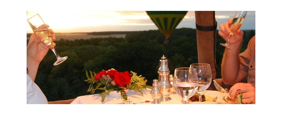 D ner romantique en montgolfi re r gion parisienne for Hotel romantique region parisienne