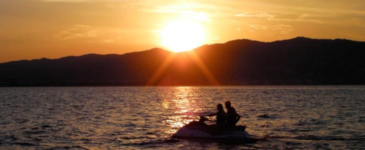 Randonnée jet ski sunset Cannes