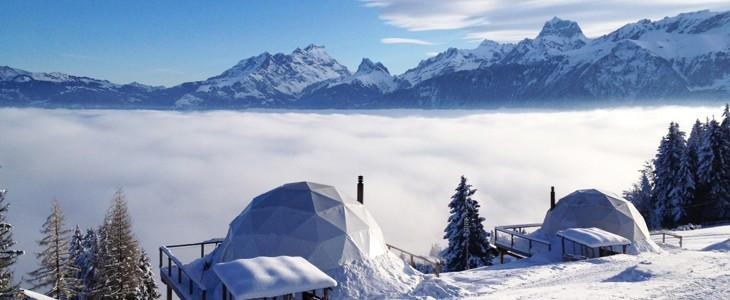 Week-end romantique dans un igloo Suisse