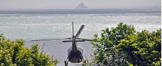 Survoler le Mont Saint Michel en hélicoptère depuis le Mont Saint Michel