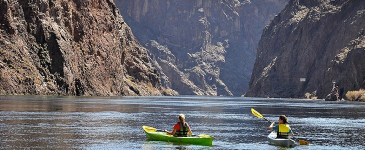Excursion en kayak dans le Black Canyon, Las Vegas