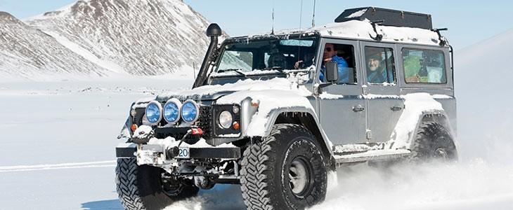 Circuit privé hiver en jeep en Islande