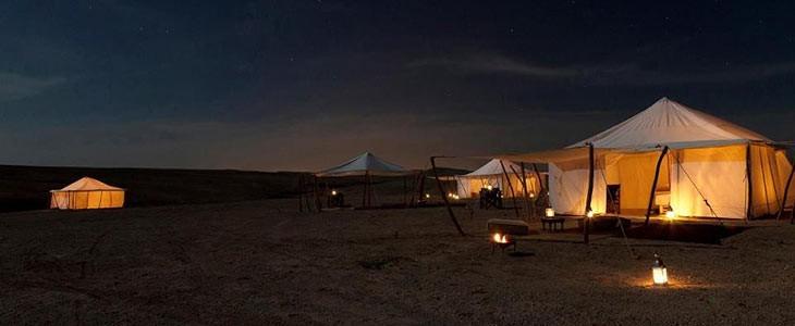 Glamping luxe insolite dans le désert au Maroc