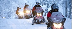 Randonnée motoneige en Laponie, Finlande