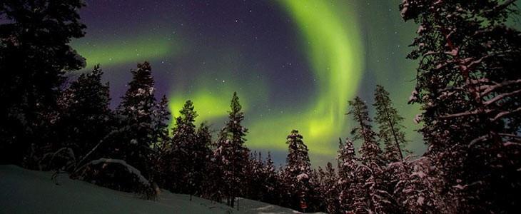 Excursion aurores boréales en Laponie, Finlande
