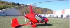 Vol en autogire à Issoire, Puy-de-Dôme