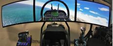 Simulateur de vol en avion de chasse pr. Colmar