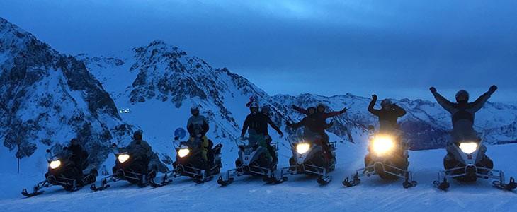 Randonnée motoneige La Mongie Pyrénées
