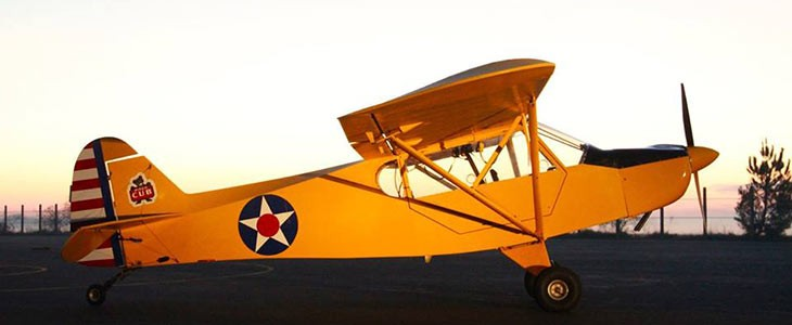 Vol en avion léger vintage à Saumur, Maine-et-Loire