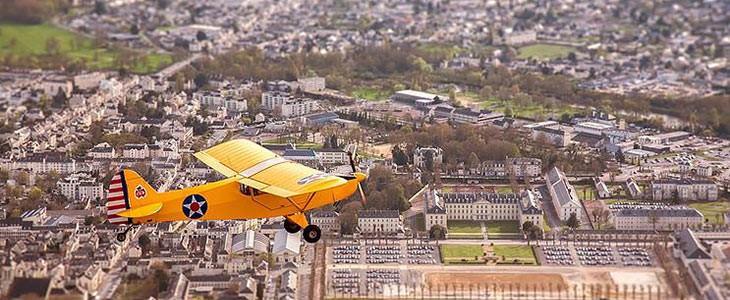 Vol d'initiation au pilotage avion léger à Saumur