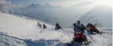 Randonnée en motoneige dans les Deux Alpes