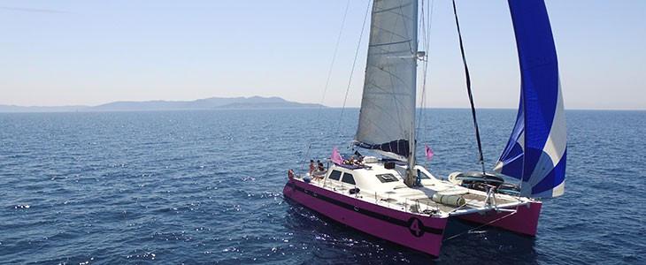 Sortie en mer au Lavandou en catamaran, Var