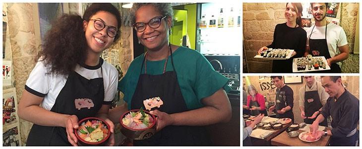 Cours de sushi à Paris