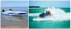 Sortie bateau offshore et jet ski Estuaire Gironde pr. Soulac