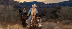 Randonnée à cheval au coucher du soleil, Las Vegas, Nevada