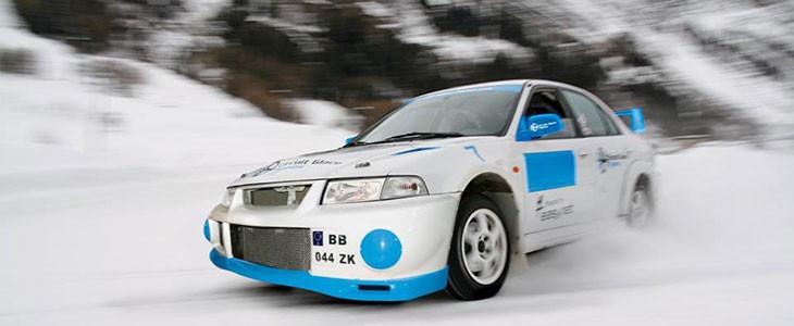 Stage conduite sur glace Tignes Savoie