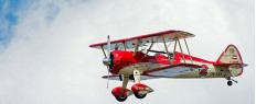 Vol avion biplan vintage Boeing Stearman La Roche sur Yon – Vendée
