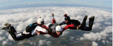 Saut d'initiation en parachute PAC à Pau