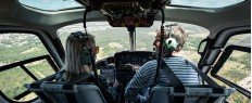 Vol initiation pilotage hélicoptère Grenoble