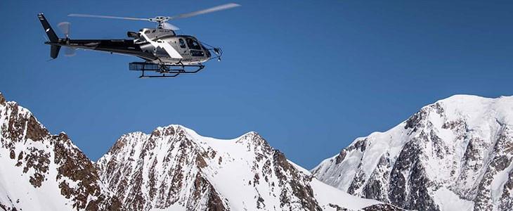 Vol en hélicoptère Tour du Mont Blanc depuis Les Arcs