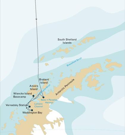 itinéraire croisière antarctique