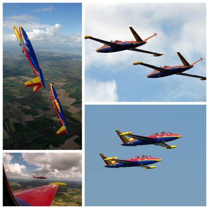 vol en patrouille avion de chasse